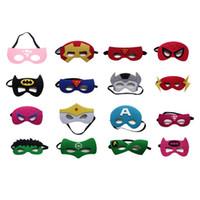 Wholesale Movie Masquerade - kids superhero mask cosplay halloween mask halloween half masquerade masks captain america mask Eye Masks best