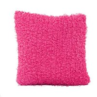 Wholesale Knitted Cushion Cover For Beds - Wholesale- Fashion solid color cushion pillowcase Bed Home Pillow Case Cover pillowcase for the pillow 45*45