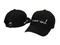 I Love You Cappellini Ball ricamato Casquette Peaked Cap Snapback Adjustable Baseball Uomo Donna Donne Summer Hat Cappellino Sport Dad