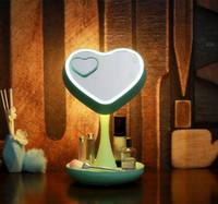 luces led espejo dormitorio al por mayor-Espejo LED Make Up Light ABS USB Lámpara de espejo recargable de 4W LED Baño / Maquillaje Habitación / Dormitorio Espejo Lámparas
