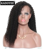 Wholesale Human Virgin - Hot sale Brazilian virgin human hair full front lace wig with baby hair, factory price hand made human hair 100% unprocessed free shipping