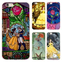 Wholesale Transparent Beauty Cases - 2017 Coque Transparent Soft TPU Silicone Cases For iphone 7 7plus for iPhone 5s 5 SE 6 6s 6plus 4 4s Case Beauty and The Beast Cove free dhl