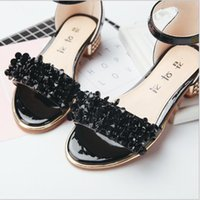 Wholesale Wholesale Korean Sandals - 2017 Children sandals Korean fashion some Middle school students and foothold Girls sandals Tide one generation