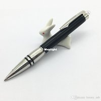 Wholesale Elegant Ballpoint Pens - MB pen STWR pen black and silver new design platinum-coated Ball pen Doué introduces modern sophistication and elegant contrasts