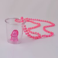 Wholesale hot hen party - Wholesale-Hot Sale1pcs Hen Night Party Games Shot Glass On Necklace Bachelorette Party Fun Drinking Game Event Party Supplies FreeShipping