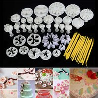 Wholesale sugar craft cake decorating plunger for sale - Group buy 2017 new sets Flower Leaf Shapes Sugar craft Plungers Cutters rolling pin Cake Decorating Tools cookies molds