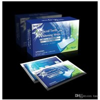 Wholesale Bleaching Strips - 28 pcs  Box Oral Hygiene Teeth Whitening Strips Professional Double Dental White Teeth Strips Gel Bleaching Tooth DHL Free Shipping