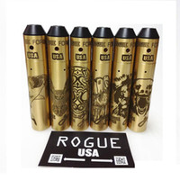 E Zigaretten Rogue USA Mod Kit Faust Hai Eule Bär Löwe Grimasse Stile Messing Mechanische Mod Klon mit Rogue Force RDA Zerstäuber Dhl-freies