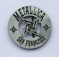Novelty black rock stock - Metallica Rock Music Belt Buckle SW BY454 suitable for cm wideth belt with continous stock