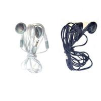 Wholesale Wholesale Bundle Headphones - Wholesale Bundle Wire Cord Simple 3.5mm Earphones Earbuds Headphones Headsets for Android black white free shipping 200pcs lot