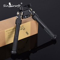 précision réglable achat en gros de-2017 BT10-LW17 V8 Atlas Bipod à 360 degrés Jambières réglables Bipod de précision Adapté aux Airsoft AR15 Hunting Rifle Adapter Mount Picatinny Weaver Keymod Rail