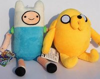 Wholesale Toy Stuffing Machine - Hot sale 3 styles Cartoon Adventure Time with Finn and Jake Plush toy Jake and Finn & friend game machine BMO Stuffed dolls super cute gift