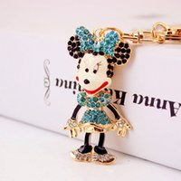 Wholesale Mouse Stainless Steel Pendant - Mouse Pendant Pop Keychains Fashion Accessories Luxury Gem Metal Key Rings Wholesale Good Gift New Arrival Free Shipping