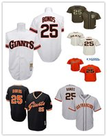 Wholesale Giants Rugby - San Francisco Giants #25 Barry Bonds 2017 Baseball Jersey Cheap Rugby Jerseys Authentic Stitched Free Shipping S-6XL