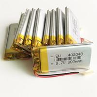 pil lipo hücresi toptan satış-402040 3.7 V 300 mAh Lityum Polimer LiPo li ion Şarj Edilebilir Pil hücreleri güç Mp3 MP4 kulaklık DVD cep telefonu Için kamera psp