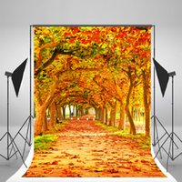 Wholesale fall photography backdrops for sale - Group buy 5x7ft x210cm Autumn Photography Background Fall Leaves Tree Photographic Backdrops for Wedding Backdrop