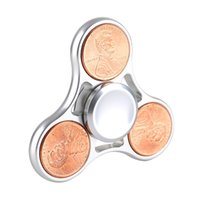 Wholesale Ready stock Penny Fidget Spinner Toy Alloy EDC Hand Spinner Anti Stress