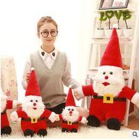 Wholesale Doll Santa Hats - 10-50 cm Santa Claus Snowman Plush Dolls Christmas Decorations Xmas Tree Gadgets Ornaments Doll Vintage Christmas Festival Decorative Gift