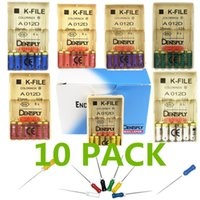 Wholesale Dental Root Canal K File - 10 Packs Dentsply Maillefer K-File Endo Dental Hand Files Root Canal Files 25mm for all size