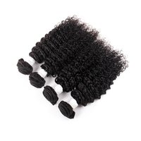 Wholesale Mongolian Kinky Curly Hair 4pcs - Brazilian virgiin hair 3 or 4pcs Kinky Curly Viirgin Hair 8A grade Brazillian Hair Weave Bundles human curly Deep wave