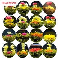 Wholesale tea flowers bloom online - C TS073 Handmade Blooming Flower Tea Kinds Ball Blooming Flower Herbal tea Artificial Flower Tea Products g