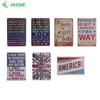 Wholesale Motto Metal - Wholesale- Metal painting Vintage tin signs slogan iron plate decor for restaurant bar cafe pub motto Wall Poster Metal Plaque