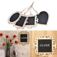 Wholesale Chalk Message Board - Creative Hanging Wooden Blackboard Chalkboard Wordpad Message Memo Chalk Board Home Wedding Party Decor Party Supplies
