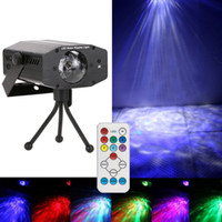 Wholesale Water Effect Lighting Led - 10PCS 7 COLOR LED Water Ripples Light RGB Mini LED Stage Light Colorful Wave Ripple Shining Effect Retail Box for Party Disco Concert Balls