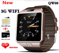 QW09 3G Wifi Armband Android 4.4 1,56 zoll 3G Smart Uhr Telefon MTK6572 1,2 GHz Dual Core 512 MB RAM 4 GB ROM Bluetooth SmartWatch