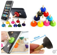 Wholesale Cell Phone Plunger Stand - Free Shipping ( 500 piece   lot ) Mini Universal Plunger Sucker Stand Holder For Cell Phone iPhone iPod