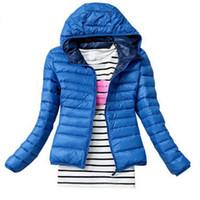 casaco de inverno cor venda por atacado-Nova Moda Parkas Inverno Feminino Para Baixo Casaco Mulheres Roupas Casaco Cor Casaco de Mulheres Jaqueta Parka Frete Grátis