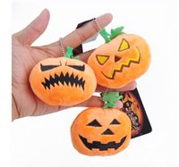 Chaveiros Plush Toy Pumpkin Ghost Emoji Halloween Pillow Emoji Party Supplies Favors Bags Car Key Ring Pendant Keychain Decorations 500pcs