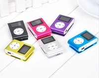 Wholesale Mp3 Player Gift Box - Wholesale MINI Clip MP3 Player with 1.2'' Inch LCD Screen Music player Support Micro SD Card TF Slot + Earphone +USB Cable with Gift box