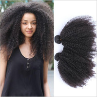 Wholesale Best Human Afro - Brazilian Hair 3 bundles of Afro kinky curly Wave Bundles body Curly Weave for the best beautiful black women Human Hair Extensions