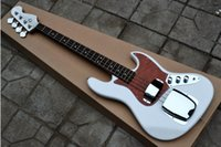 Guitare Factory Right Hand 4 cordes Basse, White Bass Chine Guitare New Style, guitare chinoise Instruments de musique