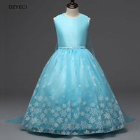 Wholesale Costumes Queens Dress - Snow Queen Princess Costume For Girl Snowflake Dresses Deguisement Teenager Children Sequins Ceremony Ball Gown Party Elza Dress Clothes