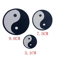 Wholesale Yin Yang Bag - New Yin Yang embroidered patches for sewing Bag clothing patches iron on sewing accessories applique