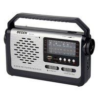 degen radio usb achat en gros de-Vente en gros-Meilleur prix original Degen DE320 Radio FM MW SW1-2 Poche Entièrement Récepteur Radio Carte USB Lecteur MP3 Radio Multibande Y4299A