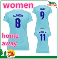 Wholesale Sports Shorts Woman - WOMEN 17 18 jersey 2017 2018 MESSI NEYMAR JR INIESTA PIQUE SUAREZ Red Green Blue Purple futbol Sports shirts