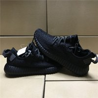 Wholesale Low Cut Socks Black - double box send PU+RB Sole best quality shoes Pirate Black Green Suede 2017 Kanye West 350 Sneakers Oxford Tan snakers with bag ,socks. size