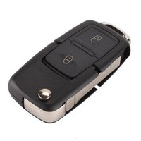 Wholesale Volkswagen Keyless Entry - Folding Car Flip Remote Key 2 Buttons Replacement Case FOB Shell WITHOUT LOGO For Vw VOLKSWAGEN MK4 Seat Altea Alhambra Ibiza