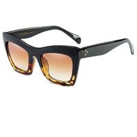 Wholesale Oculos Style - 2017 New Fashion Big Frame Style Women Sunglasses Brand Designer Luxury Cat Eye Sun Glasses Shades Oculos De Sol A096