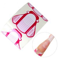 Wholesale Wholesale Nail Forms - Wholesale- MYBOX 100pcs Roll Nail Forms nail Extension Hot pcs curve nail art acrylic extension Guide UV Gel Nails Tip Paper Form
