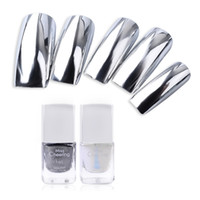 Wholesale Peel Off Base Coat - Wholesale- Misscheering Silver Mirror Nail Polish Base Coat Peel Off Metal Nail Varnish Metallic Manicure Nail Art Polish