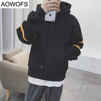 Wholesale Mens Korean Hoodies - Wholesale- Autumn Winter Korean Couple Hooded Sweatshirts Mens Pullover Hoodie Hip Hop Fashion Patchwork Loose Skateboard sudaderas hombre