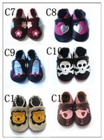 Wholesale Infant Baby Shoe Style - Lovely styles of Genuine leather Baby soft sole shoes-Infant Booties Baby Prewalker First walker shoes,baby COW leather Crown sandals bootie