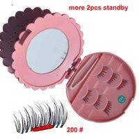 Wholesale Eyelash Extensions Tweezer - 1pair=6pcs With Mirro and Tweezer Magnetic EyeLashes 3D Mink Reusable False Magnet Eyelashes Extension 3d magnetic eyelash extensions
