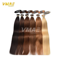 Wholesale keratin bonded hair extensions - 1g s 100g I Tip Pre Bonded Keratin Capsule Human Hair Extensions Virgin Remy Human Hair Straight I Tipped High Quality Straight Hair