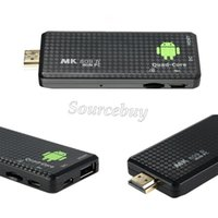 ¡El más nuevo! Android 4,4 Mini núcleo de la PC Quad RK3128 Google TV Stick MK809IV 1 GB RAM 8 GB ROM Bluetooth Wifi HDMI TV Dongle