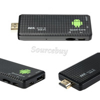 ingrosso quad core dongle google-Il più recente! Quadro RK3128 Google TV Stick per Android 4.4 Mini PC MK809IV 1GB RAM 8GB ROM Bluetooth Wifi Dongle HDMI TV